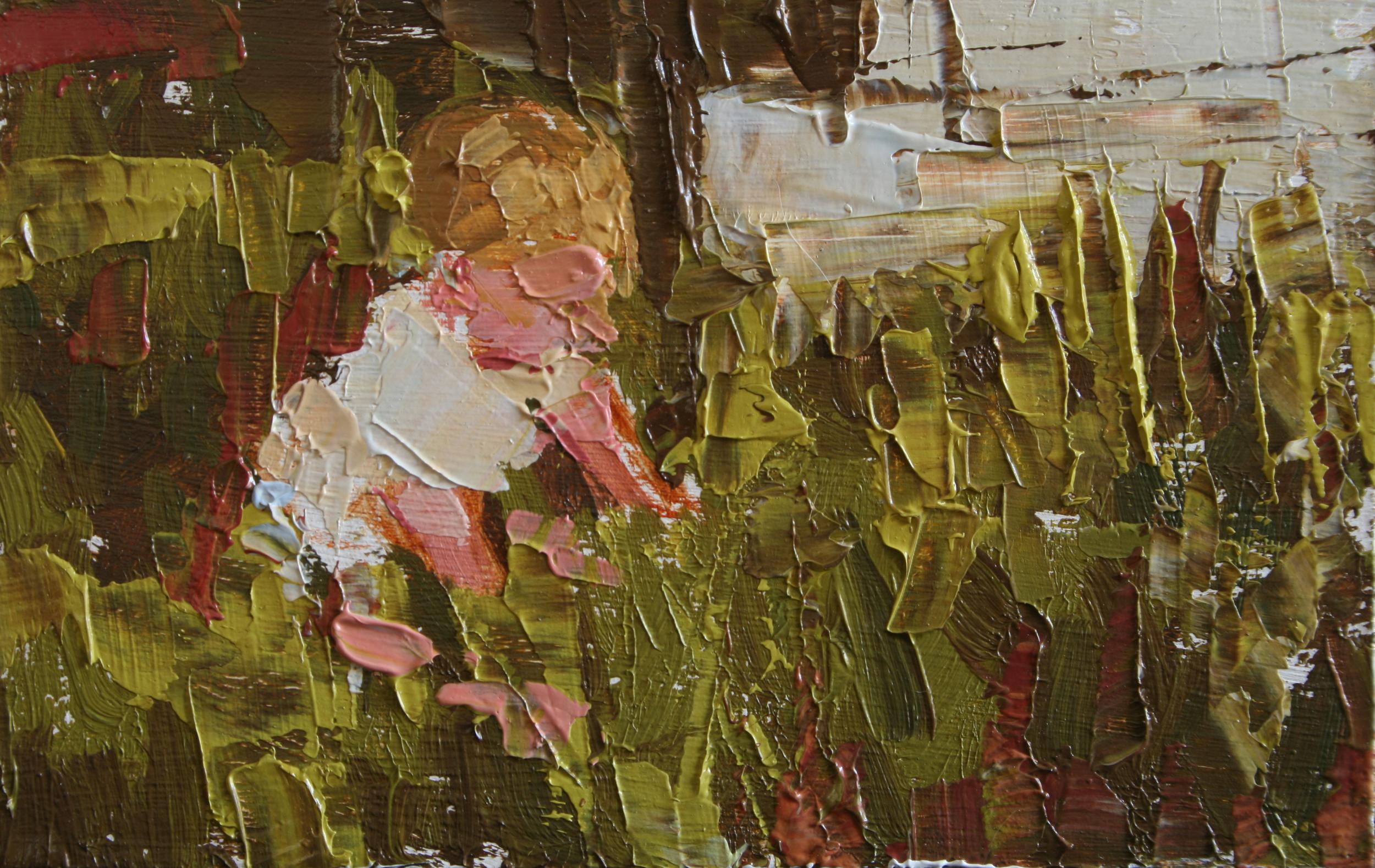 """TS 27, oil on panel, 2"""" x 3.25"""", 2011"""
