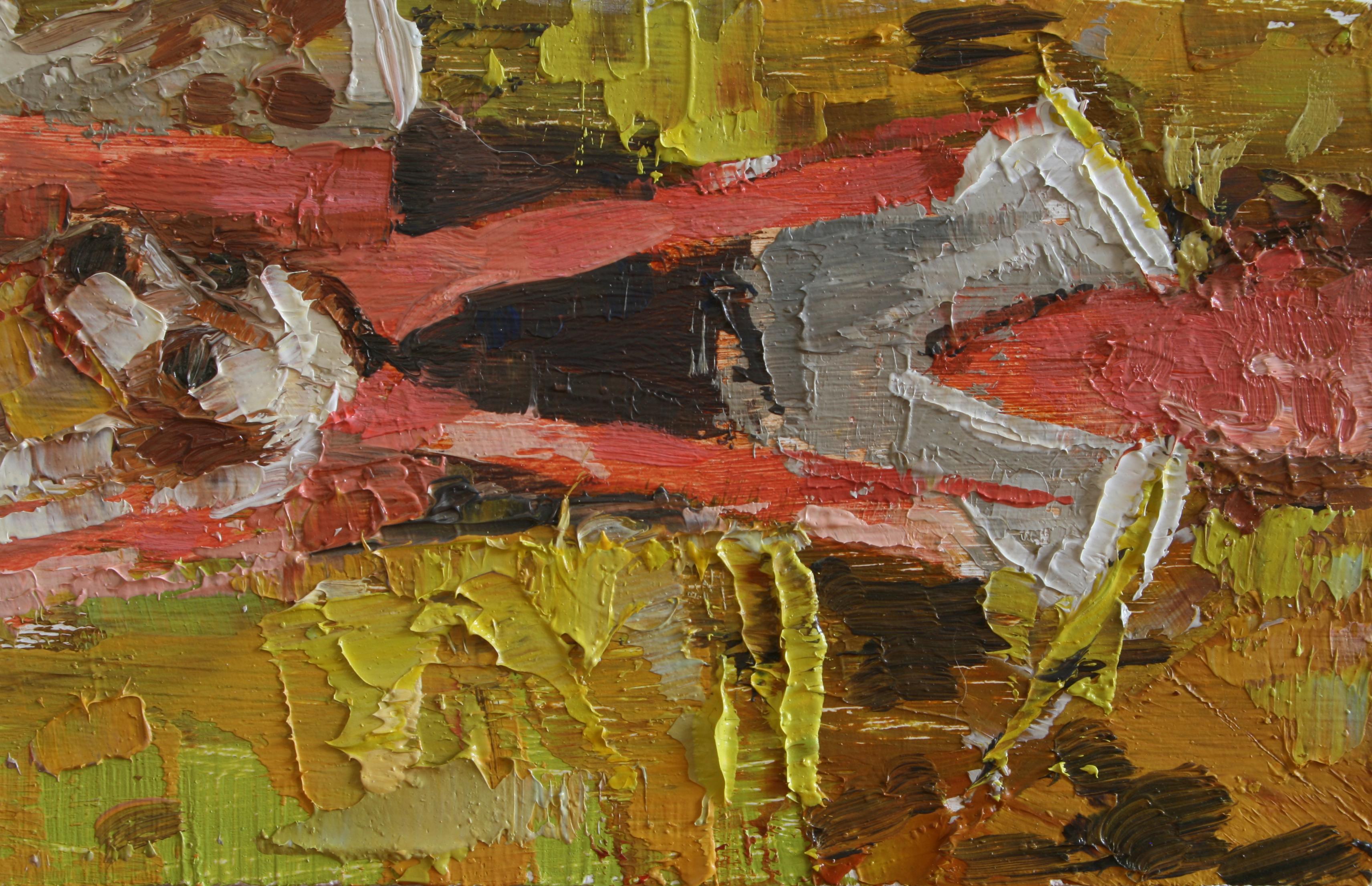 """TS 20, oil on panel, 3.25"""" x 2"""", 2011"""