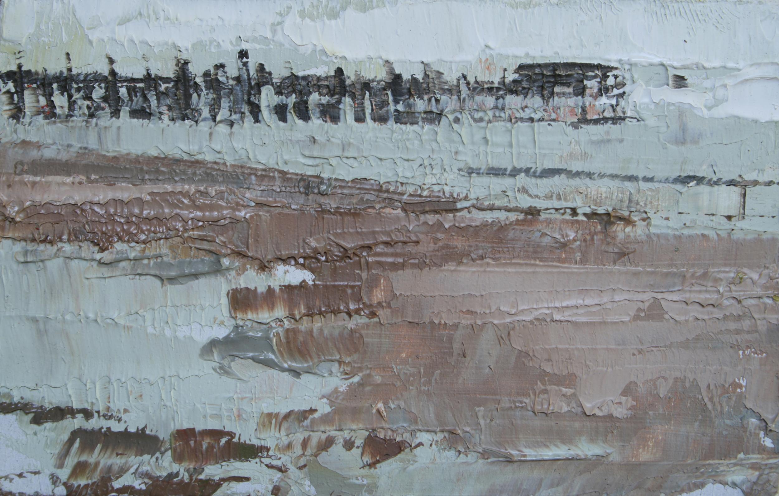 """TS 17, oil on panel, 2"""" x 3.25"""", 2011"""