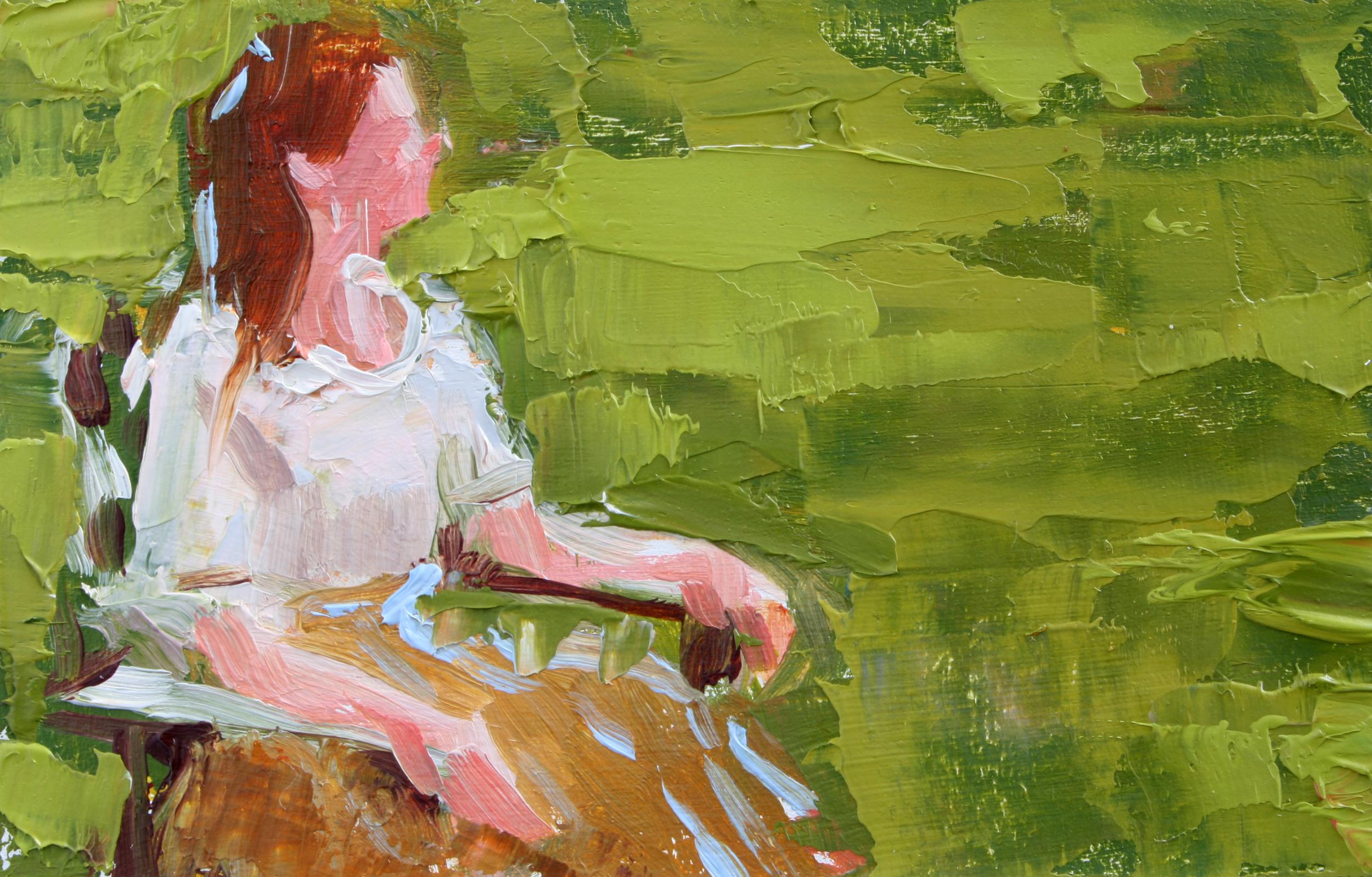 """TS 63, oil on panel, 2"""" x 3.25"""", 2011"""