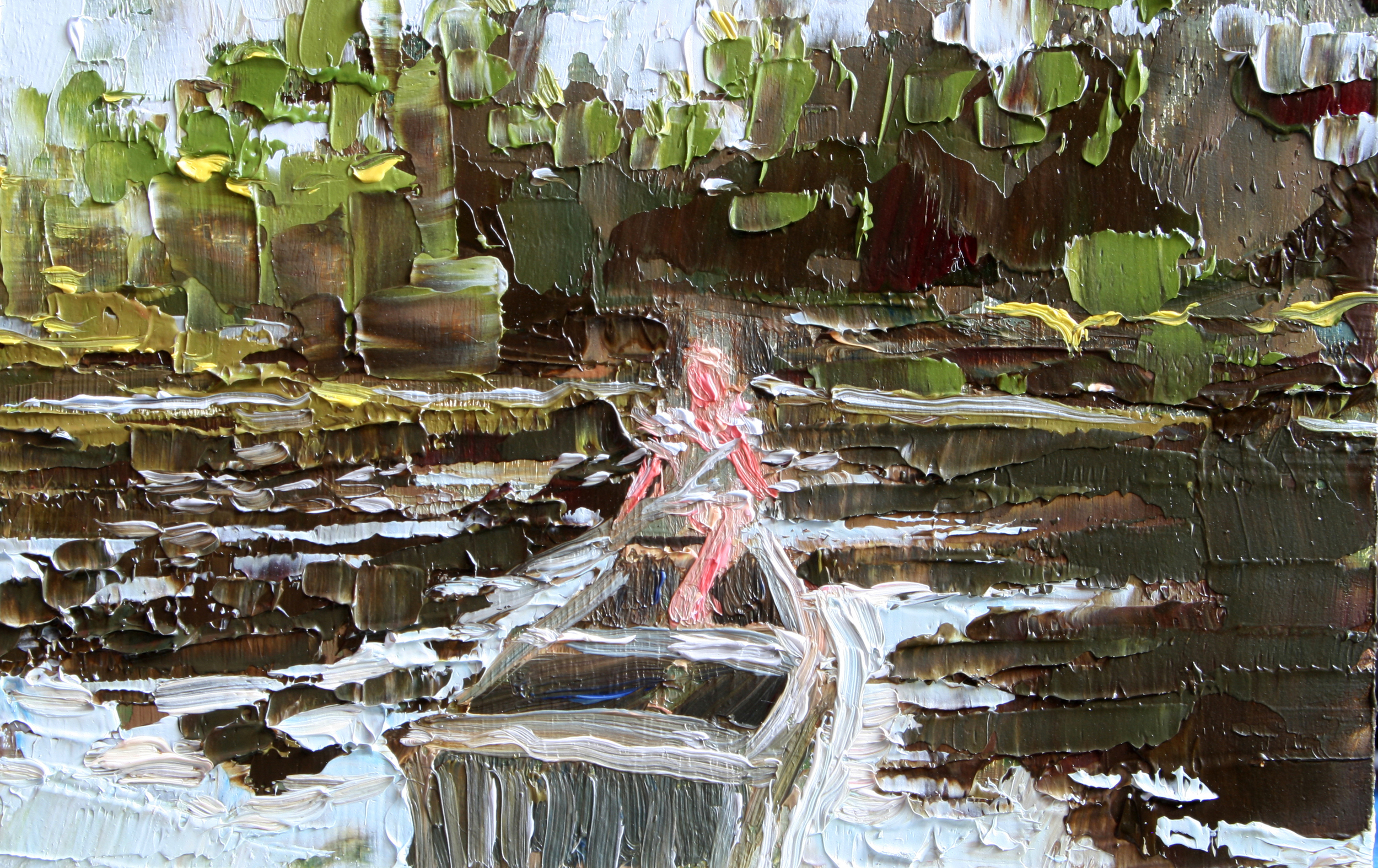 """TS 77, oil on panel, 2"""" x 3.25"""", 2011"""