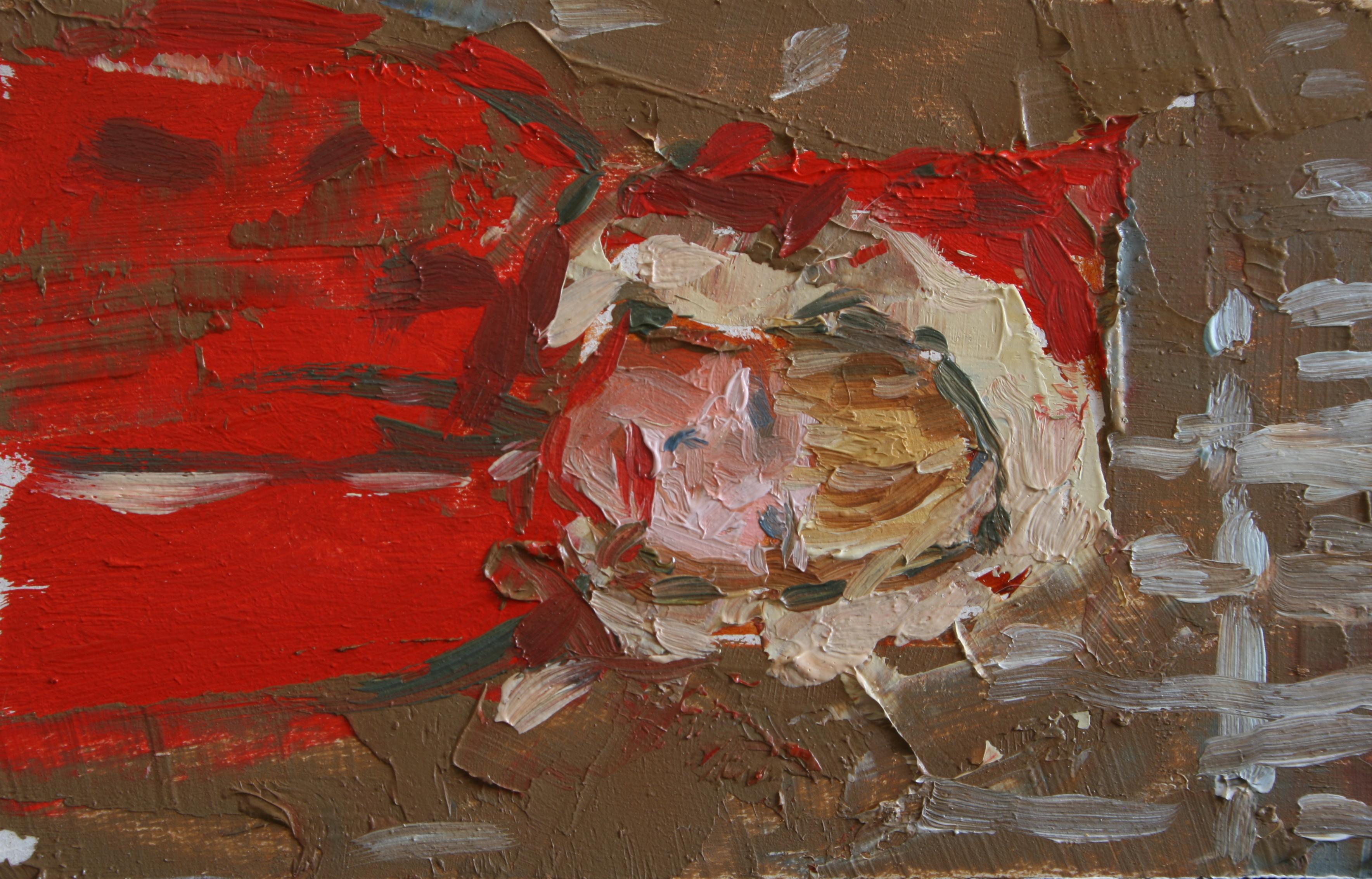 """TS 42, oil on panel, 3.25"""" x 2"""", 2011"""