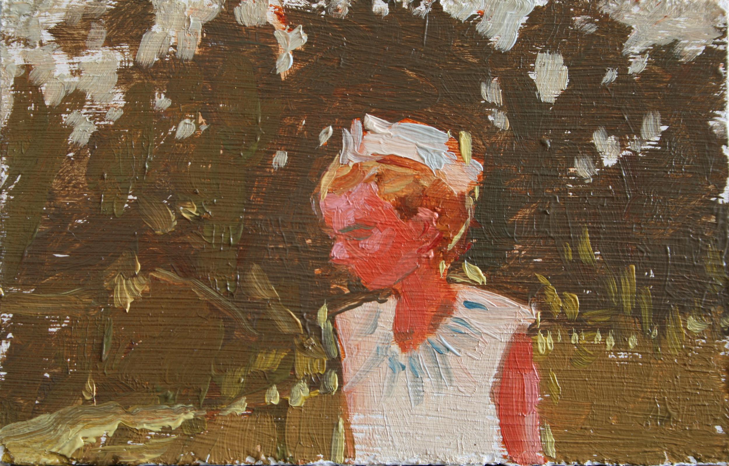 """TS 26, oil on panel, 2"""" x 3.25"""", 2011"""