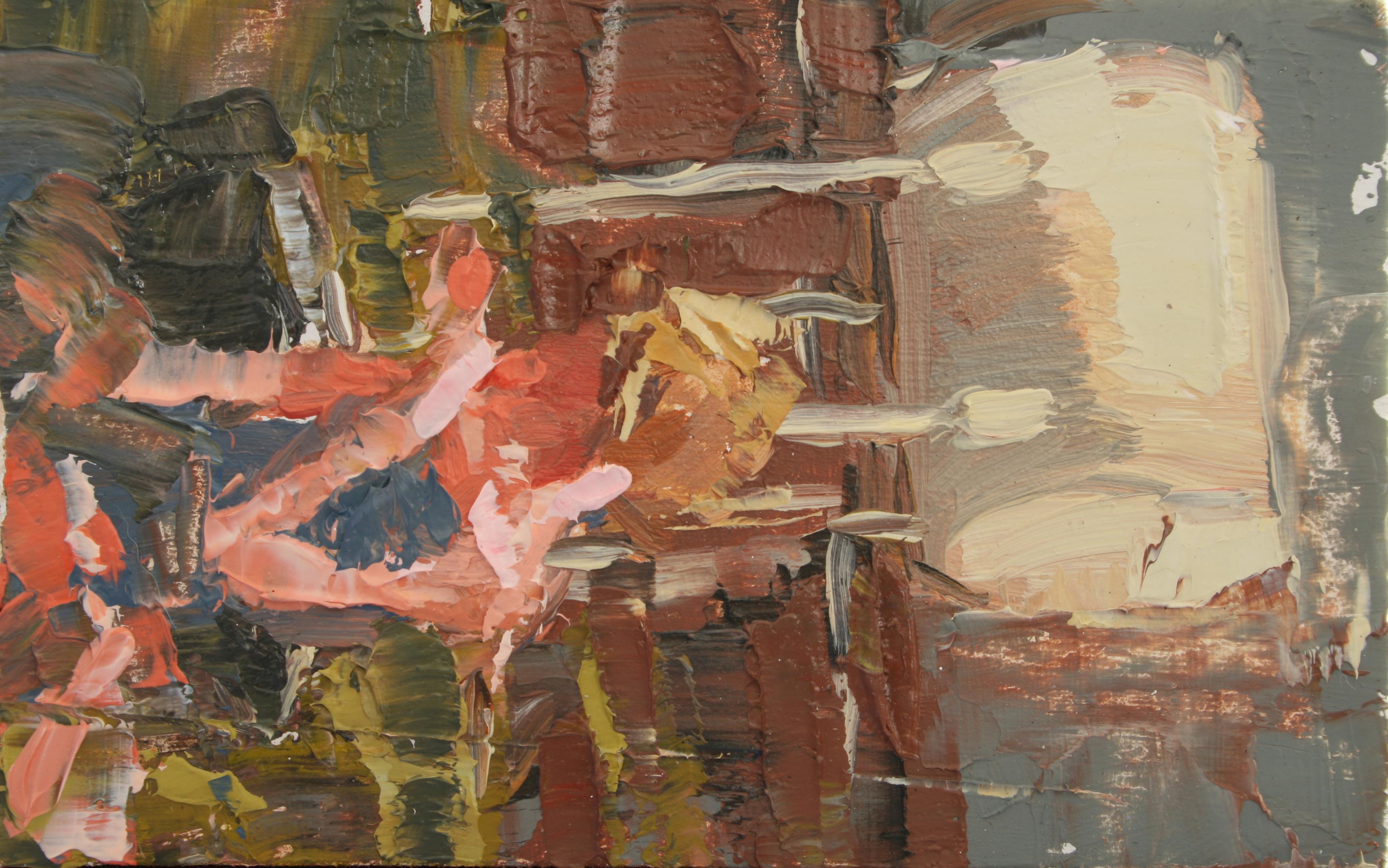 """TS 11, oil on panel, 3.25"""" x 2"""", 2011"""
