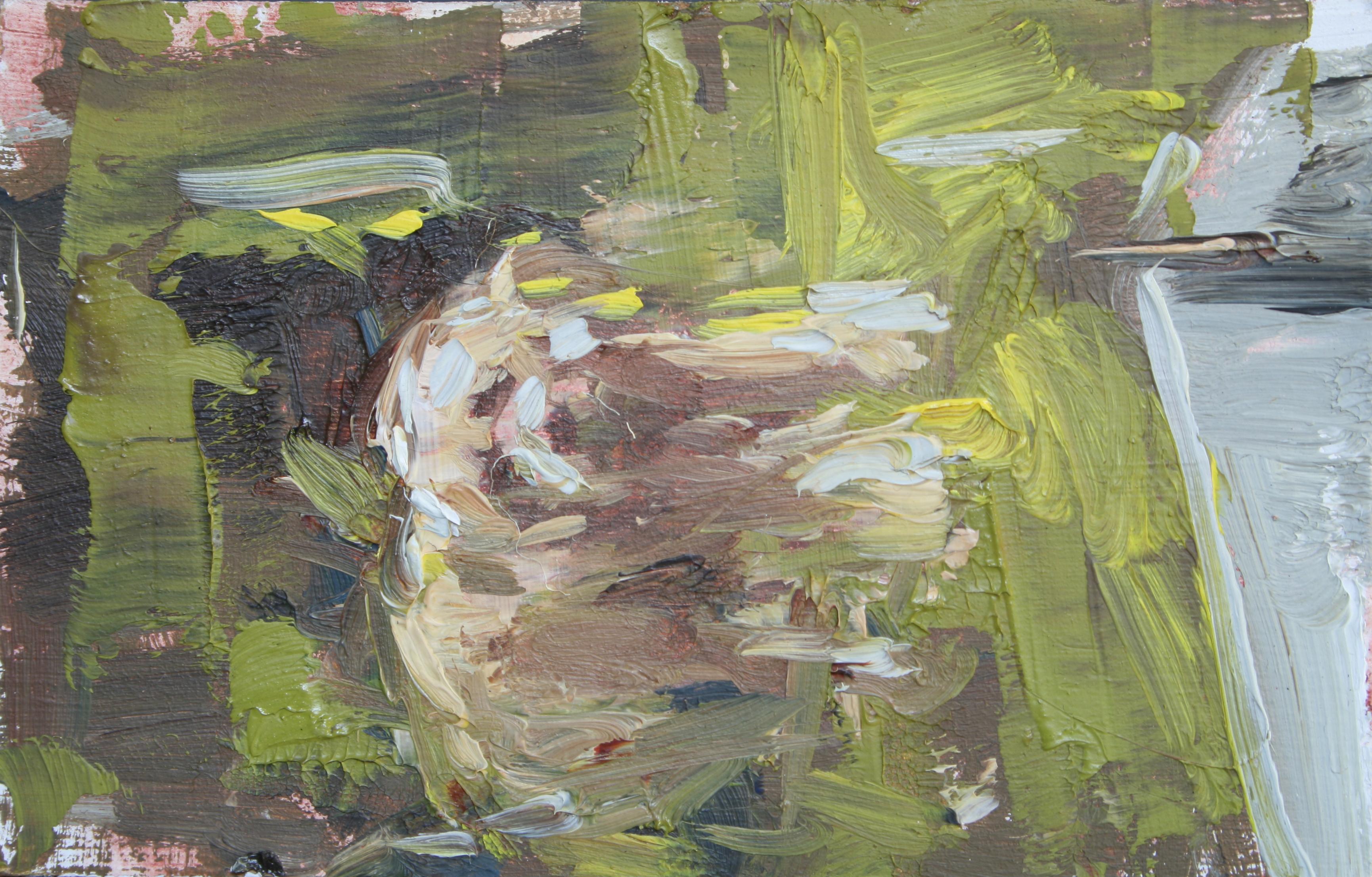 """TS 10, oil on panel, 3.25"""" x 2"""", 2011"""
