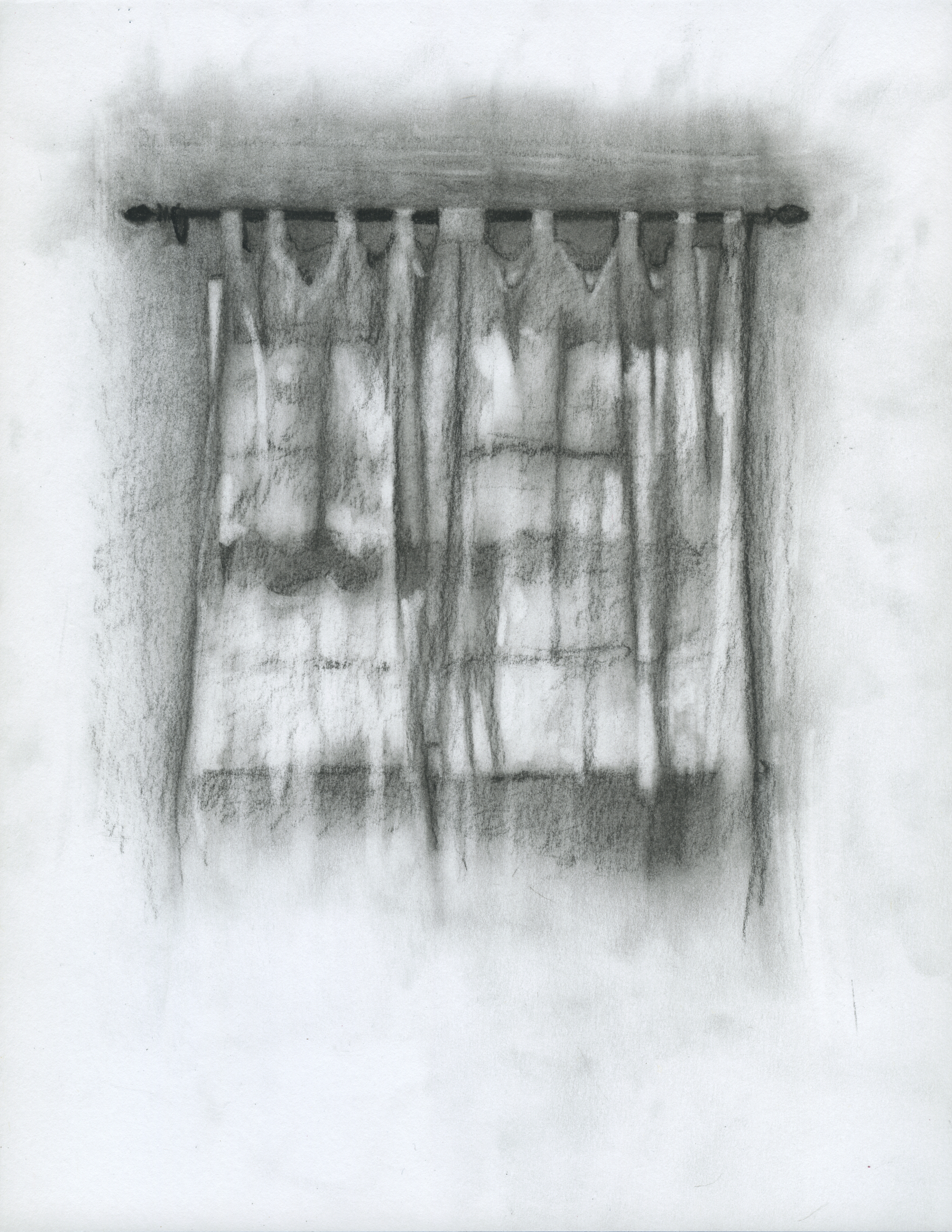 "To Be Reimagined, charcoal on paper, 11"" x 8.5"", 2014"