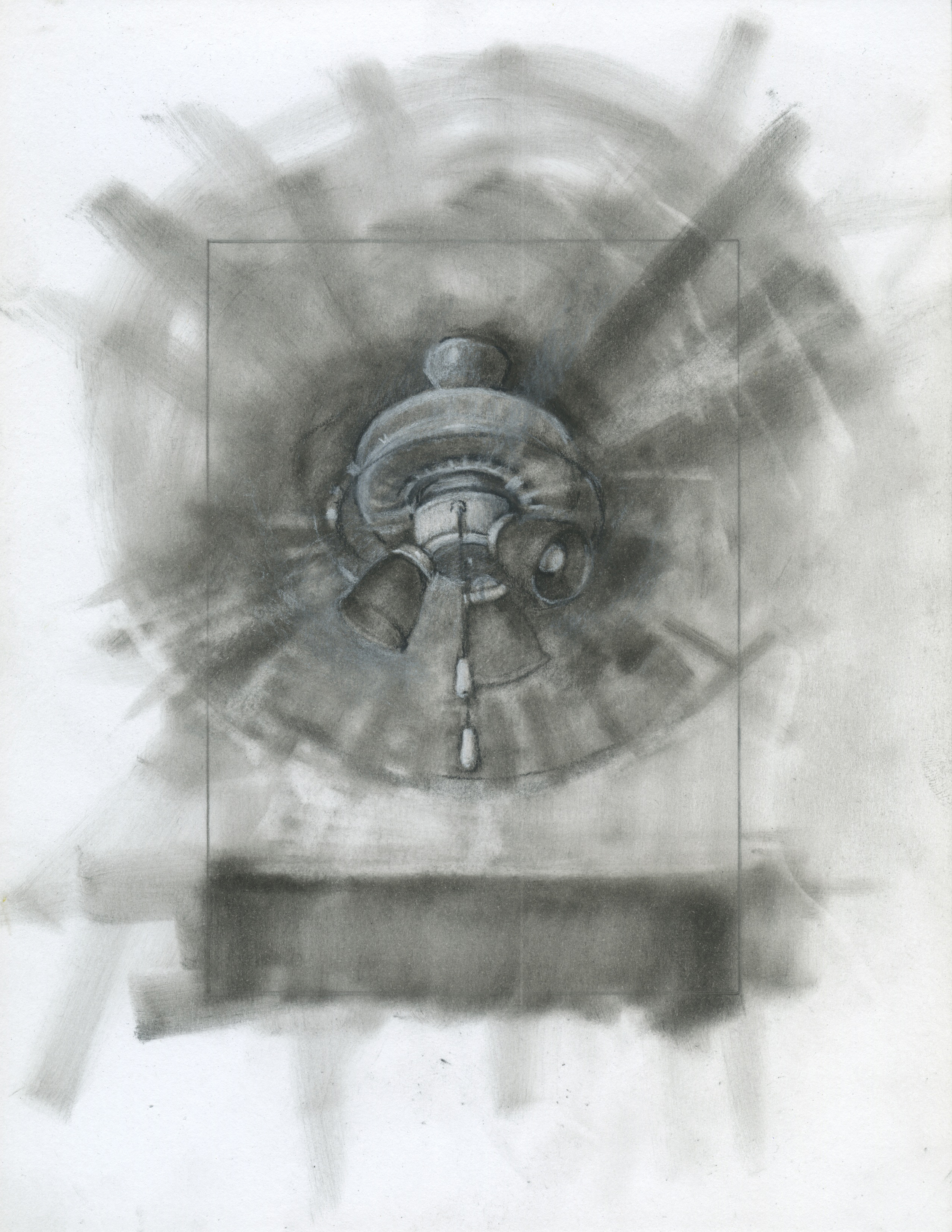 "Patiently Bearing, charcoal on paper, 11"" x 8.5"", 2014"