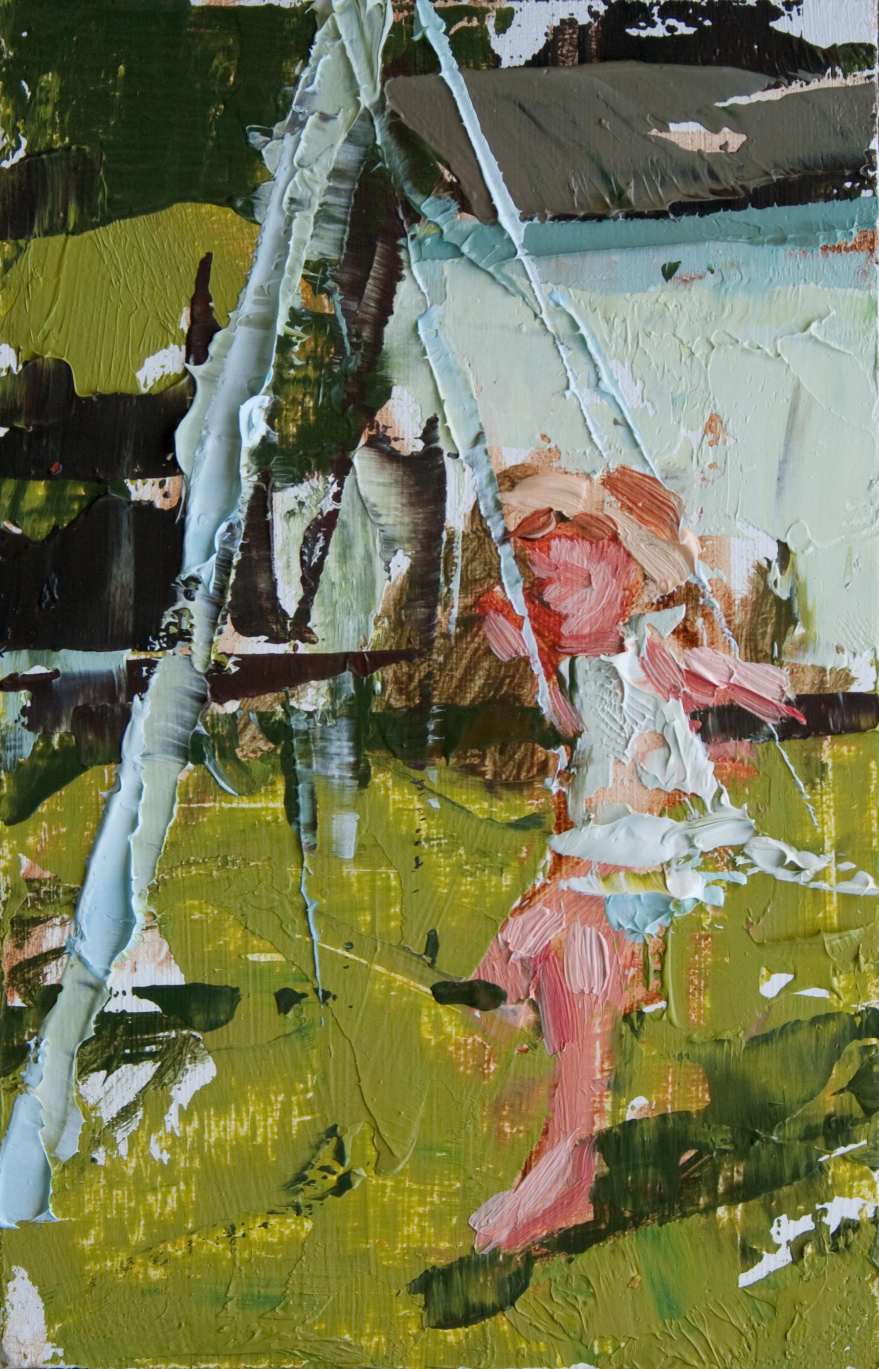 """TS 108, oil on panel, 3.25"""" x 2"""", 2011"""