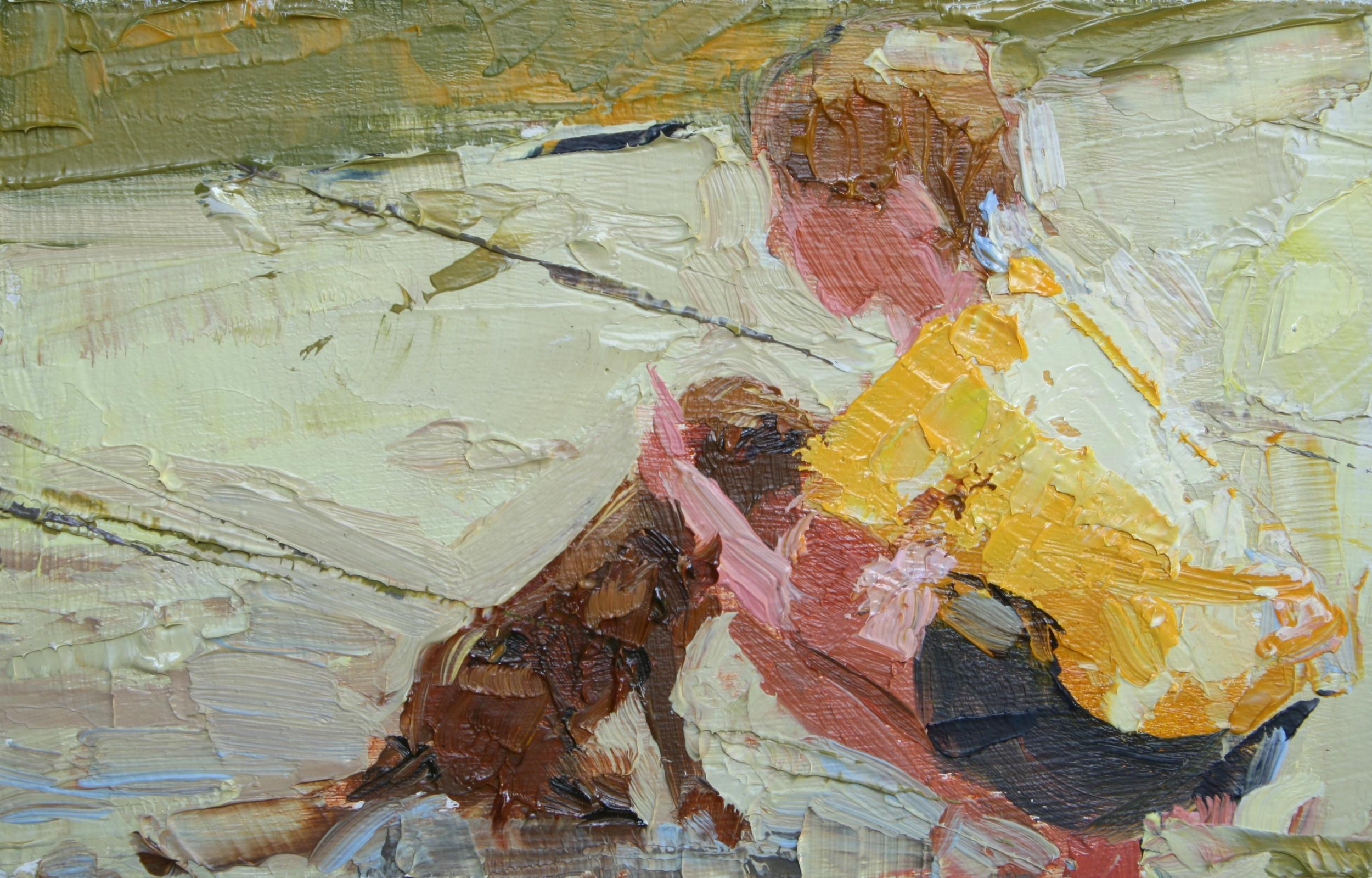 """TS 19, oil on panel, 2"""" x 3.25"""", 2011"""