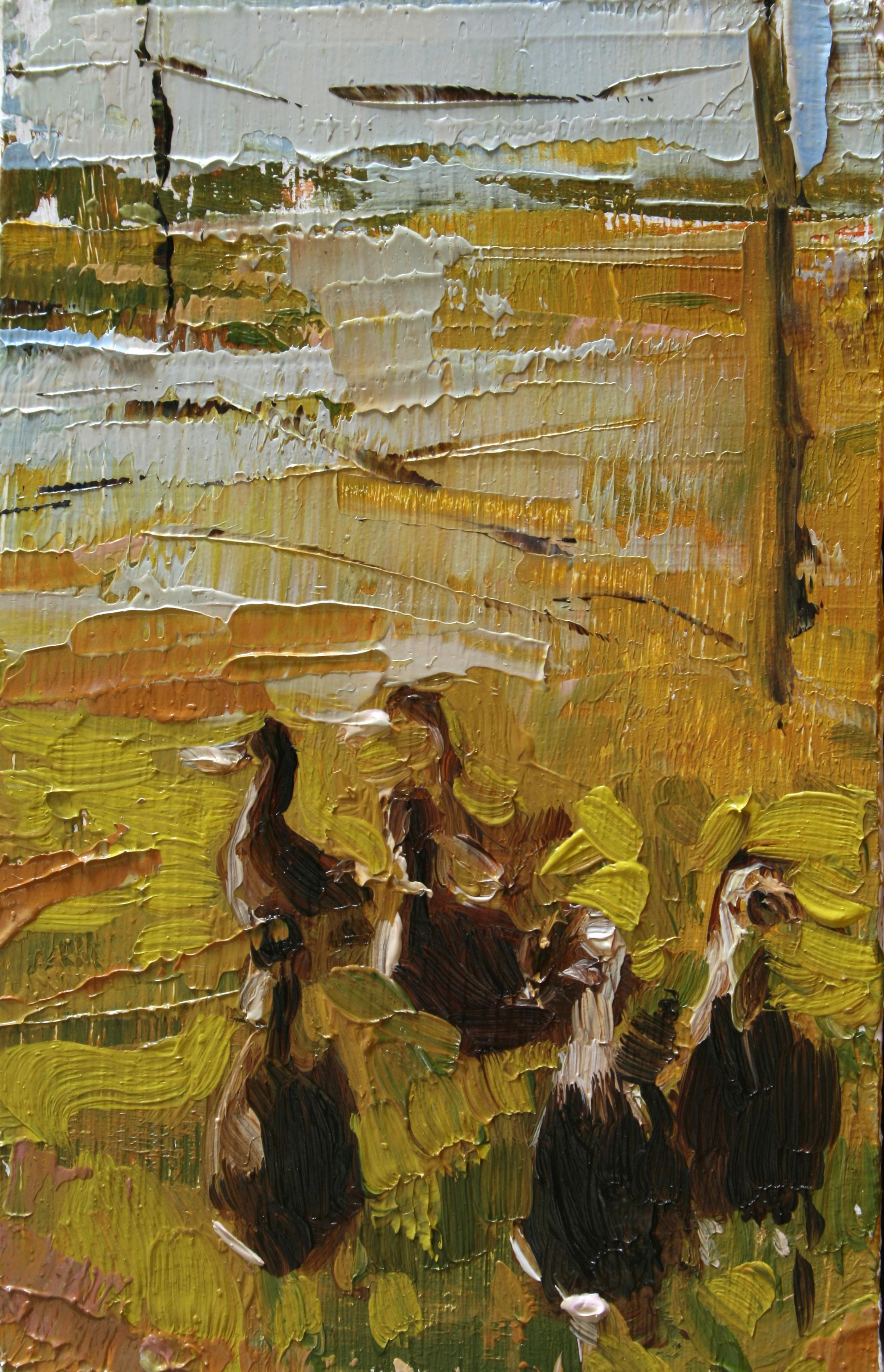 """TS 16, oil on panel, 3.25"""" x 2"""", 2011"""
