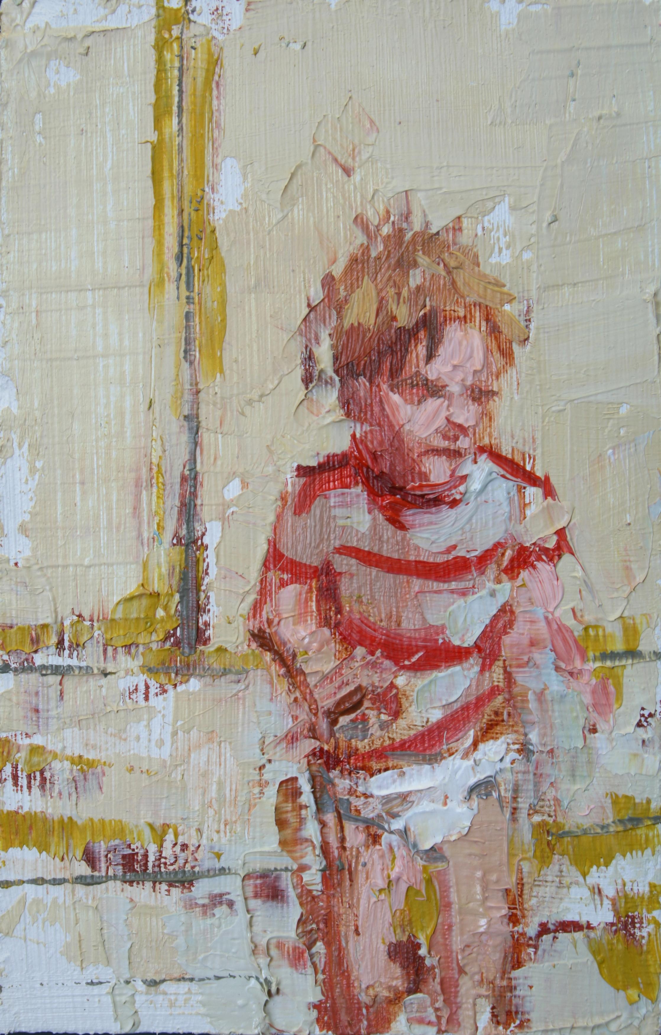 """TS 14, oil on panel, 3.25"""" x 2"""", 2011"""