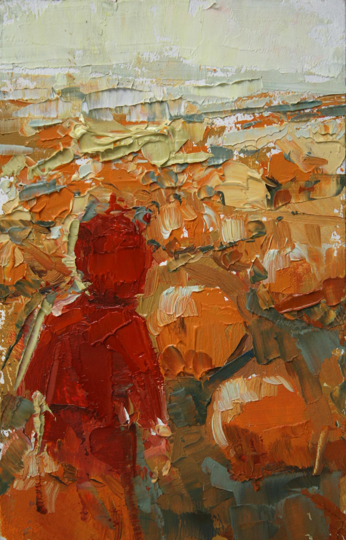 """TS 6, oil on panel, 3.25"""" x 2"""", 2010"""