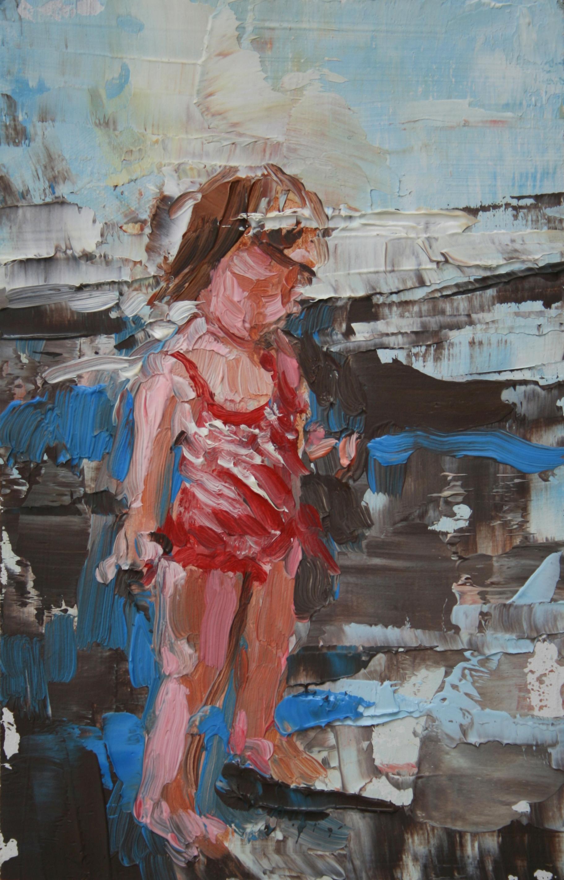 """TS 2, oil on panel, 3.25"""" x 2"""", 2010"""