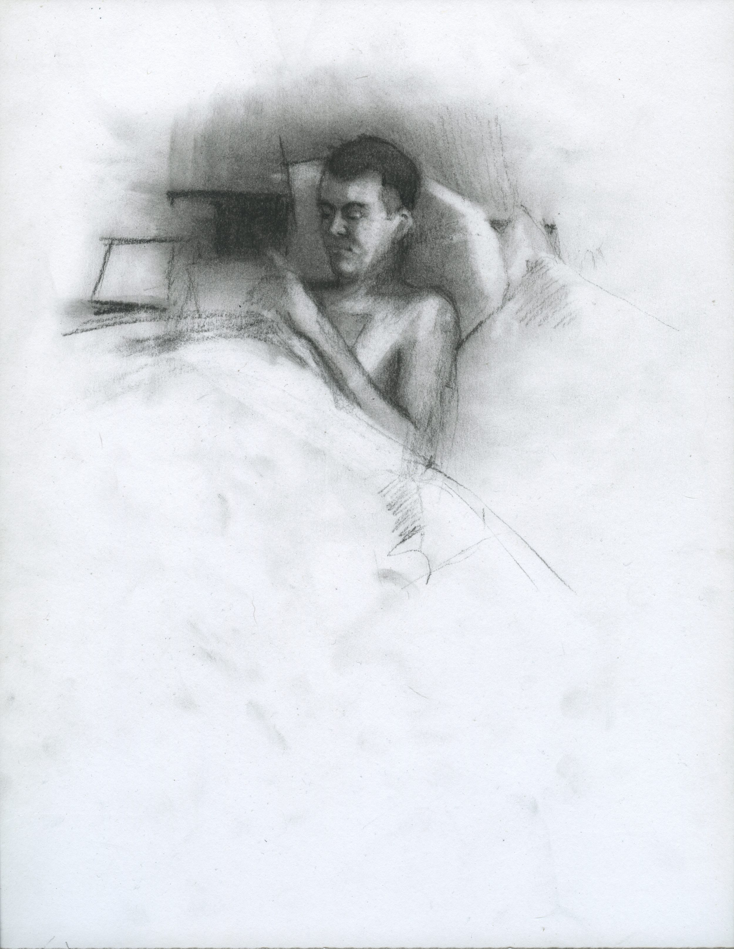 "Complicated In Practice, charcoal on paper, 11"" x 8.5"", 2014"