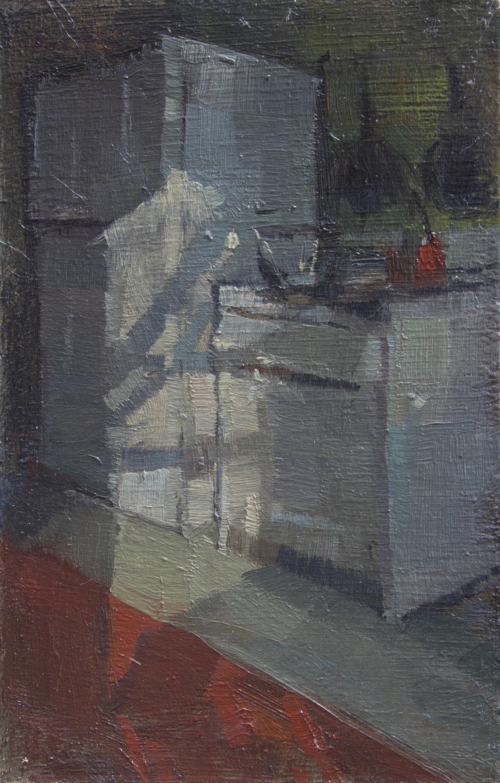 """TS 385, oil on panel, 3.25"""" x 2.2"""", 2015"""