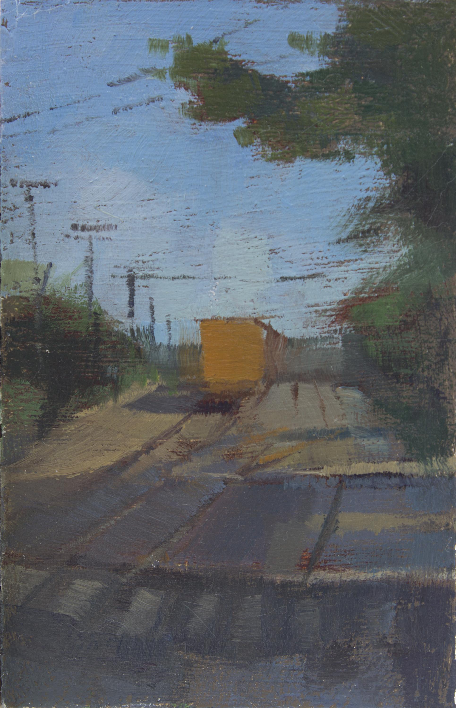 """TS 391, oil on panel, 3.25"""" x 2.2"""", 2015"""