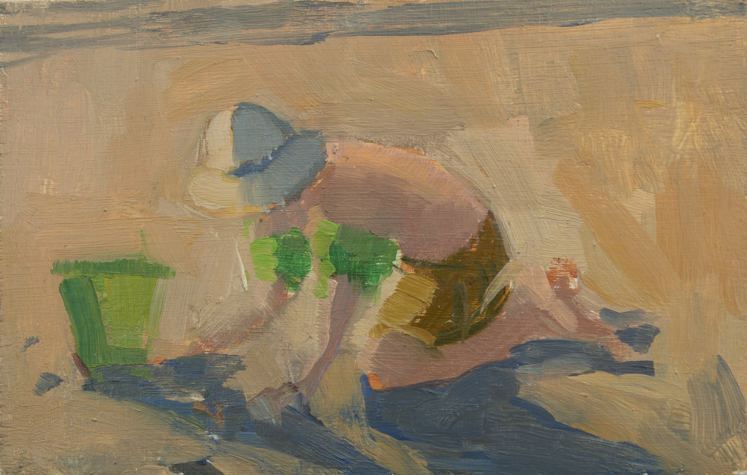 "TS 405, oil on panel, 2.2"" x 3.25"", 2016"