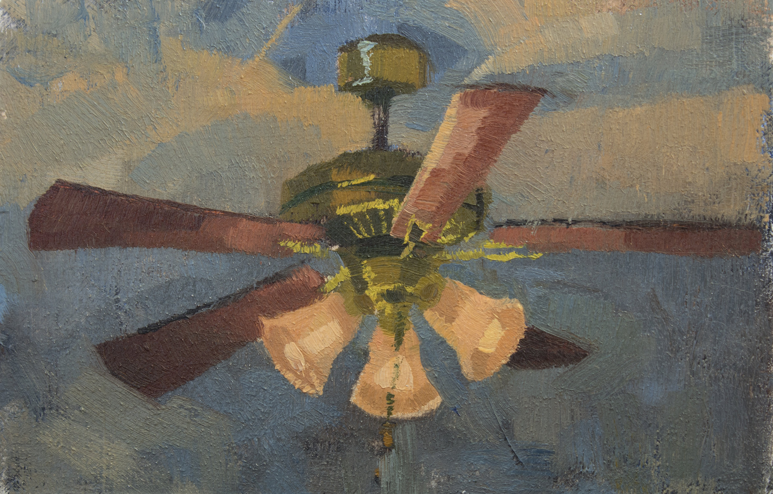 "TS 424, oil on panel, 2.2"" x 3.25"", 2016"