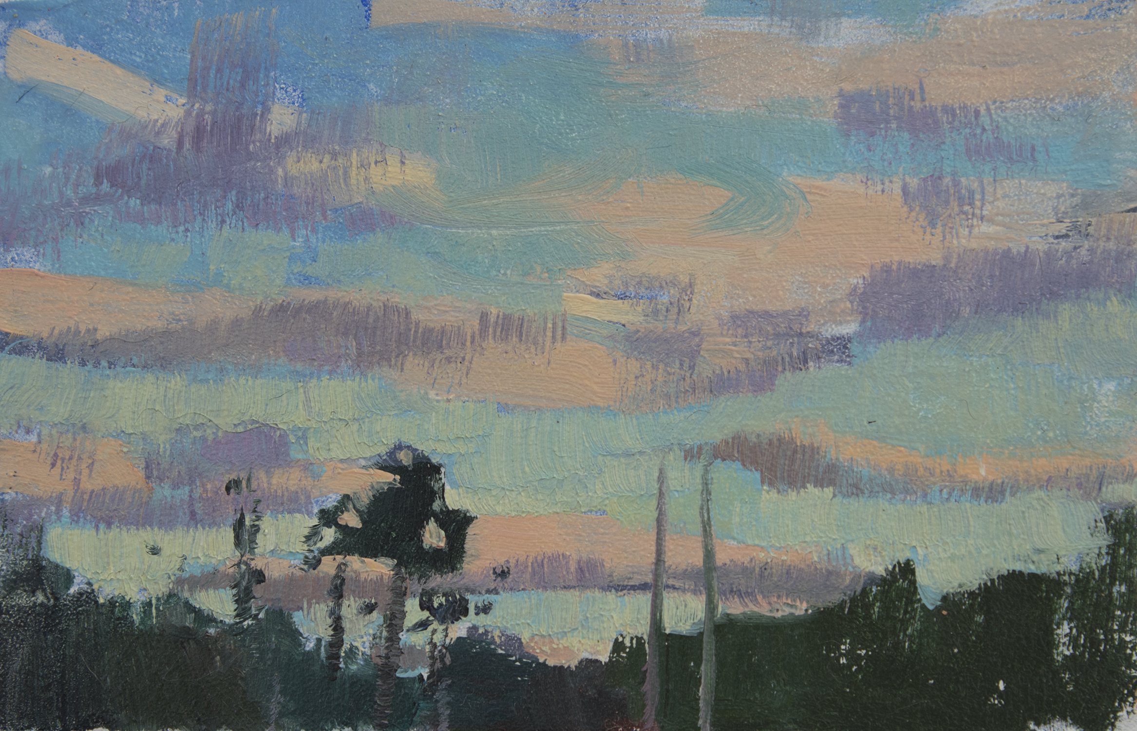 "TS 445, oil on panel, 2.2"" x 3.25"", 2016"