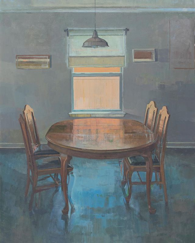 """New painting, 40"""" x 30"""", on view starting this Friday, Oct. 6th at Plum Gallery. @plumgallerystaugustine"""