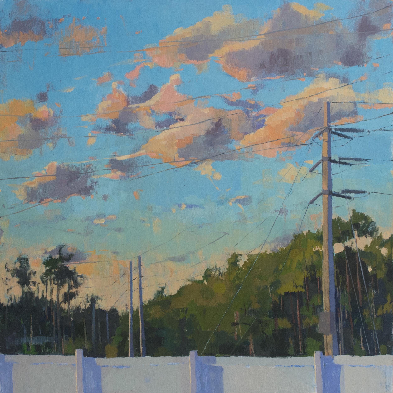 """Light Slips Down, Oil on Panel, 24"""" x 24"""", 2017"""