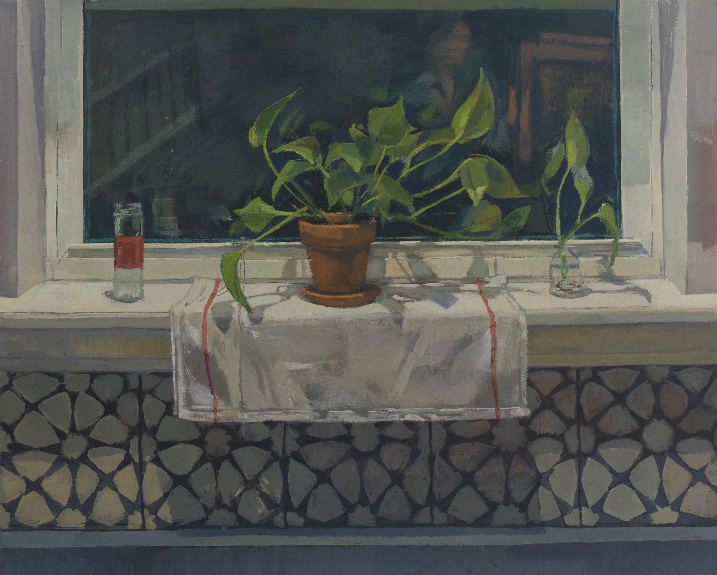 """Unchallenged Selfhood, Oil on Panel, 16"""" x 20"""", 2018"""