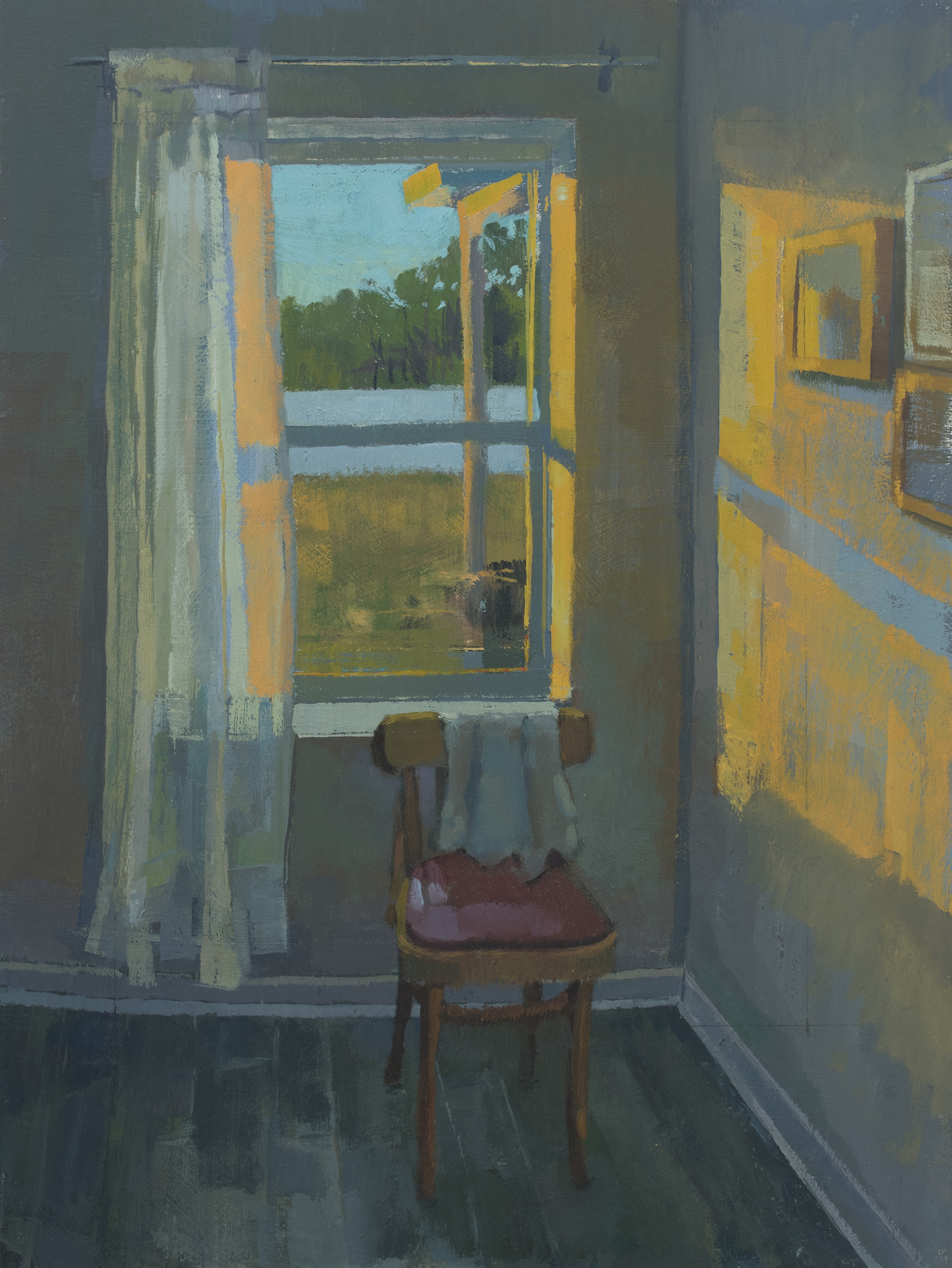 "Drained the Last Light, Oil on Panel, 16"" x 12"", 2018"