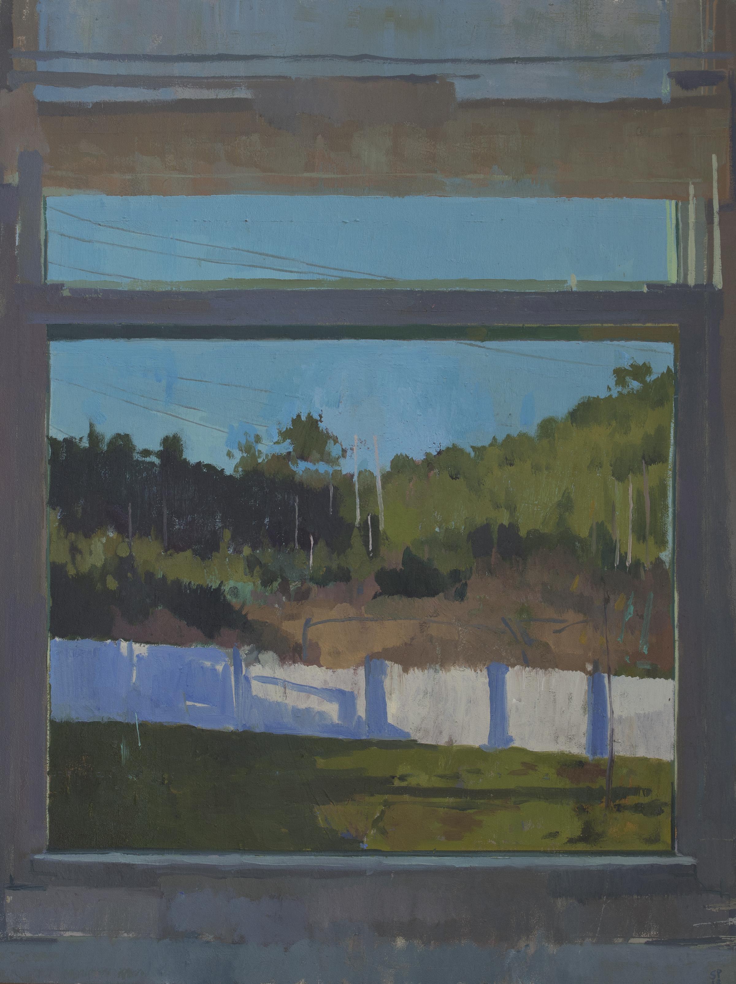 """Behind the Sky (chronology of disunion), Oil on Panel, 16"""" x 12"""", 2019"""