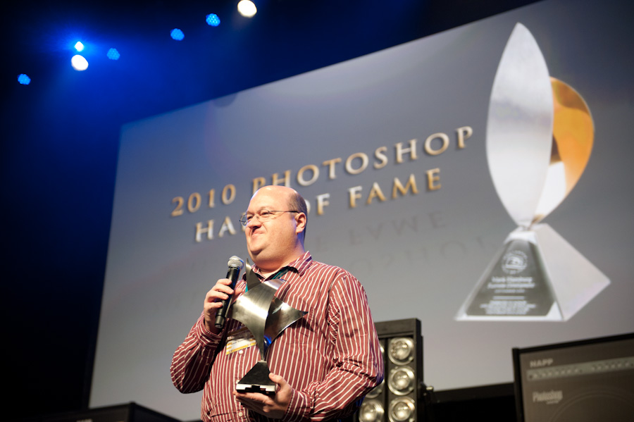 Chris during his Hall of Fame acceptance speech at the Photoshop World Conference & Expo