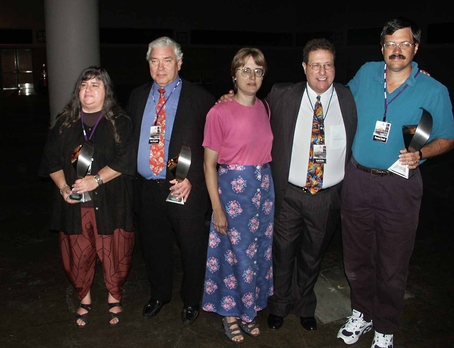 The three original Photoshop Hall of Famers: (L to R) Dianne Fenster, Dan Margulis (far right) Thomas Knoll