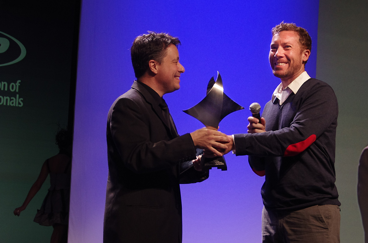 Bryan on stage to accept his award at the Photoshop World opening keynote.