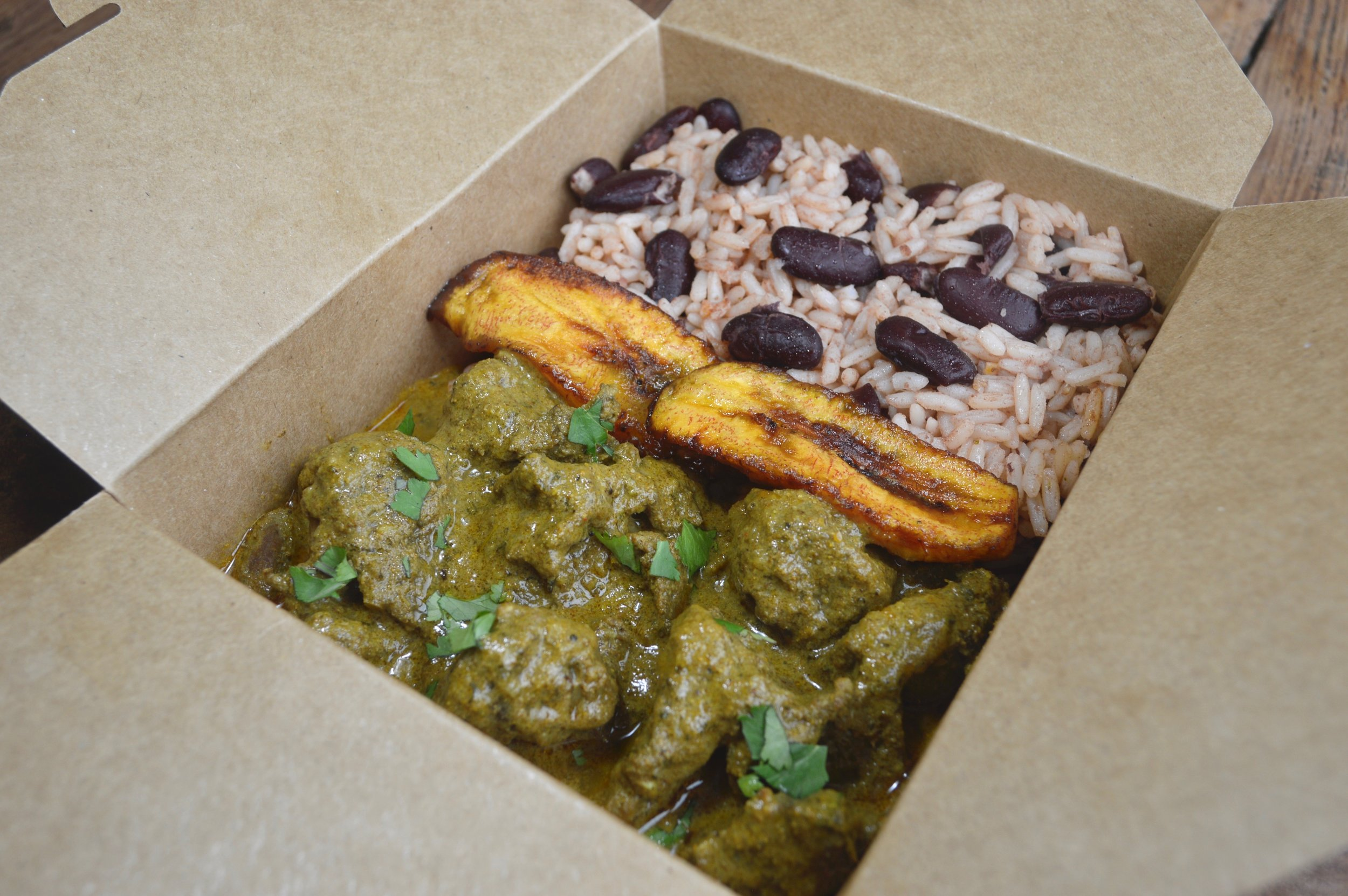 Mama Jacqs Caribbean tender curry goat