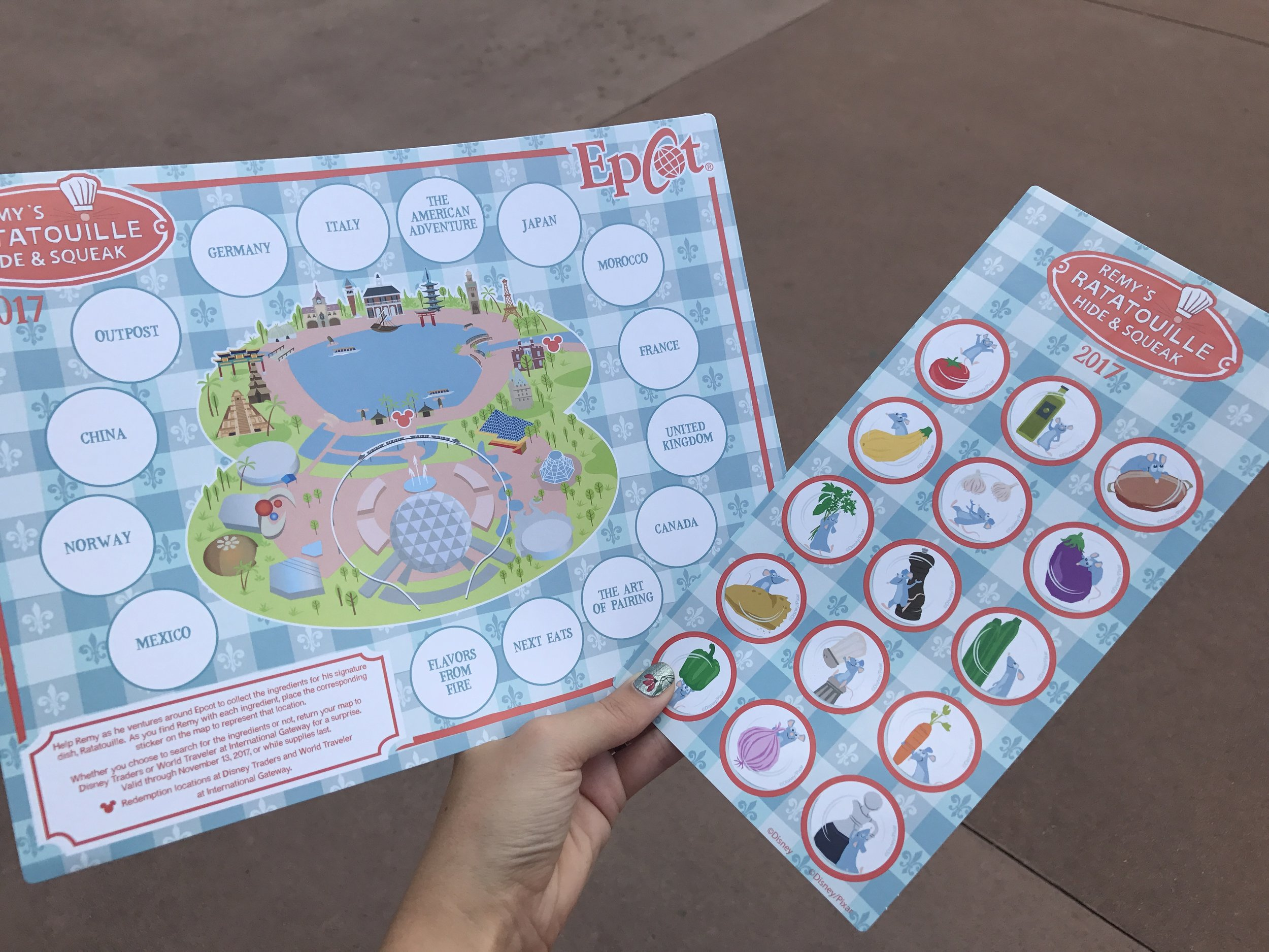 Map and Stickers for Remy's Ratatouille Hide & Squeak