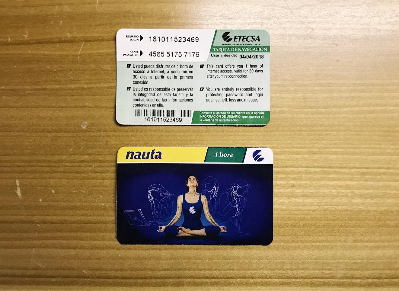 ETECSA- Cuba's interent card
