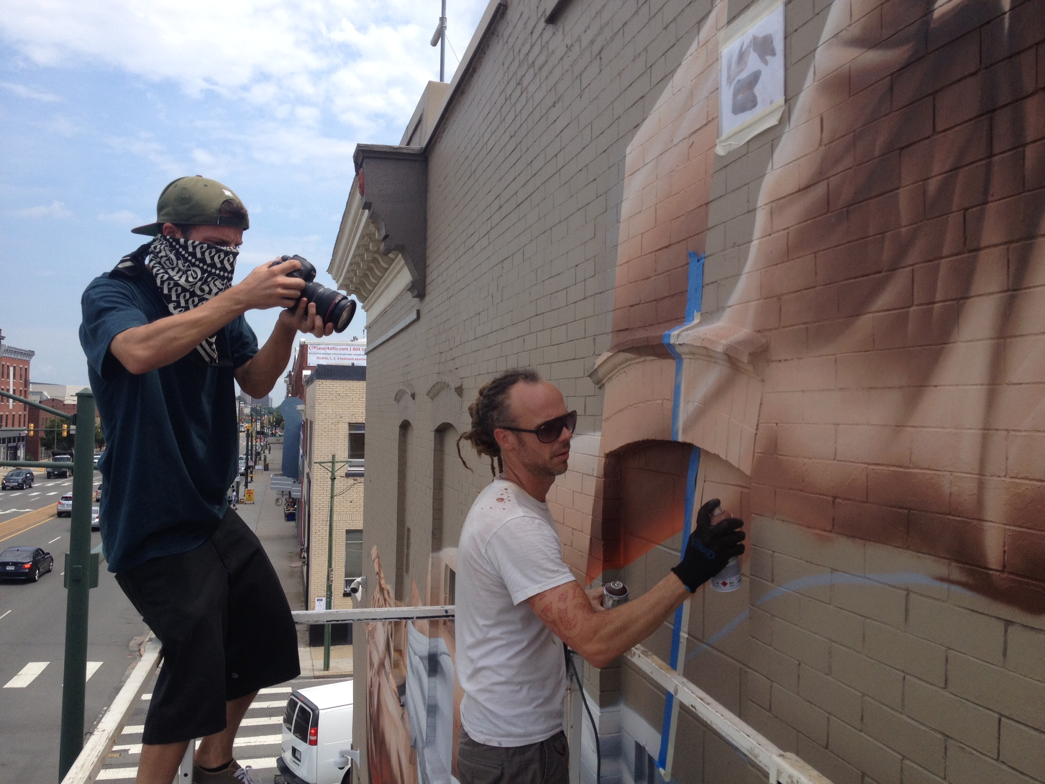Filming with  James Bullough  in Virginia.