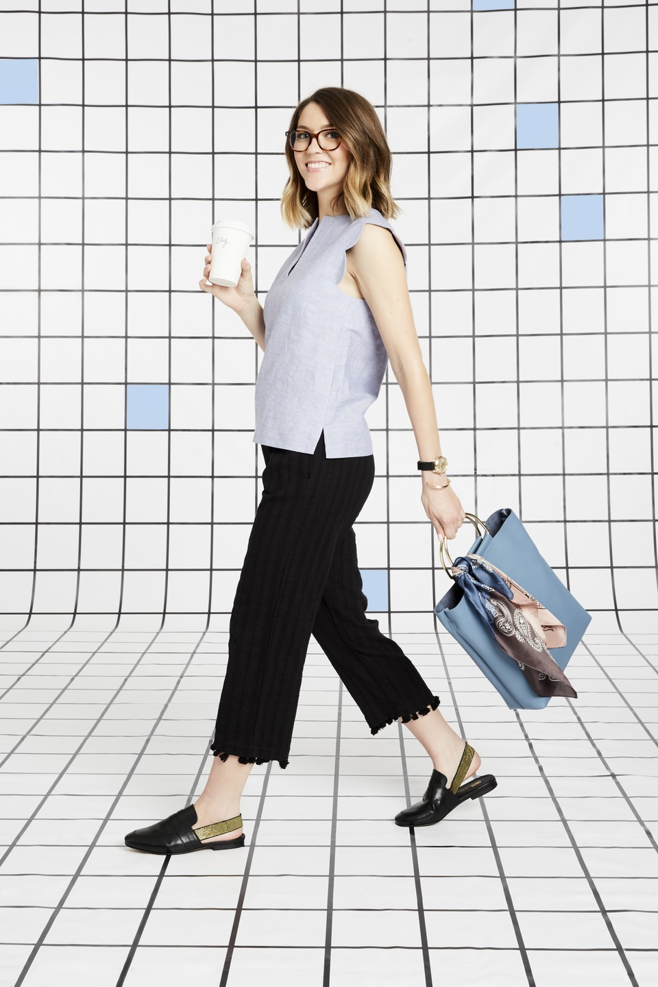 this look - perfect for more conservative offices, this look is professional and still stylish, showing you can still have a little flair in a strictly professional dress code