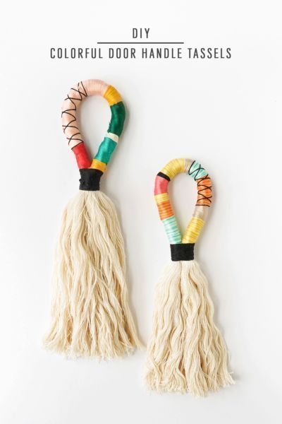 "stay in, do crafts.  - Sometimes going outside when it's hot is nice. Sometimes it's not. On those ""not"" instances, I'm a fan of a good DIY,  and these door tassels have the best pop of color and pizzazz for spring vibes."