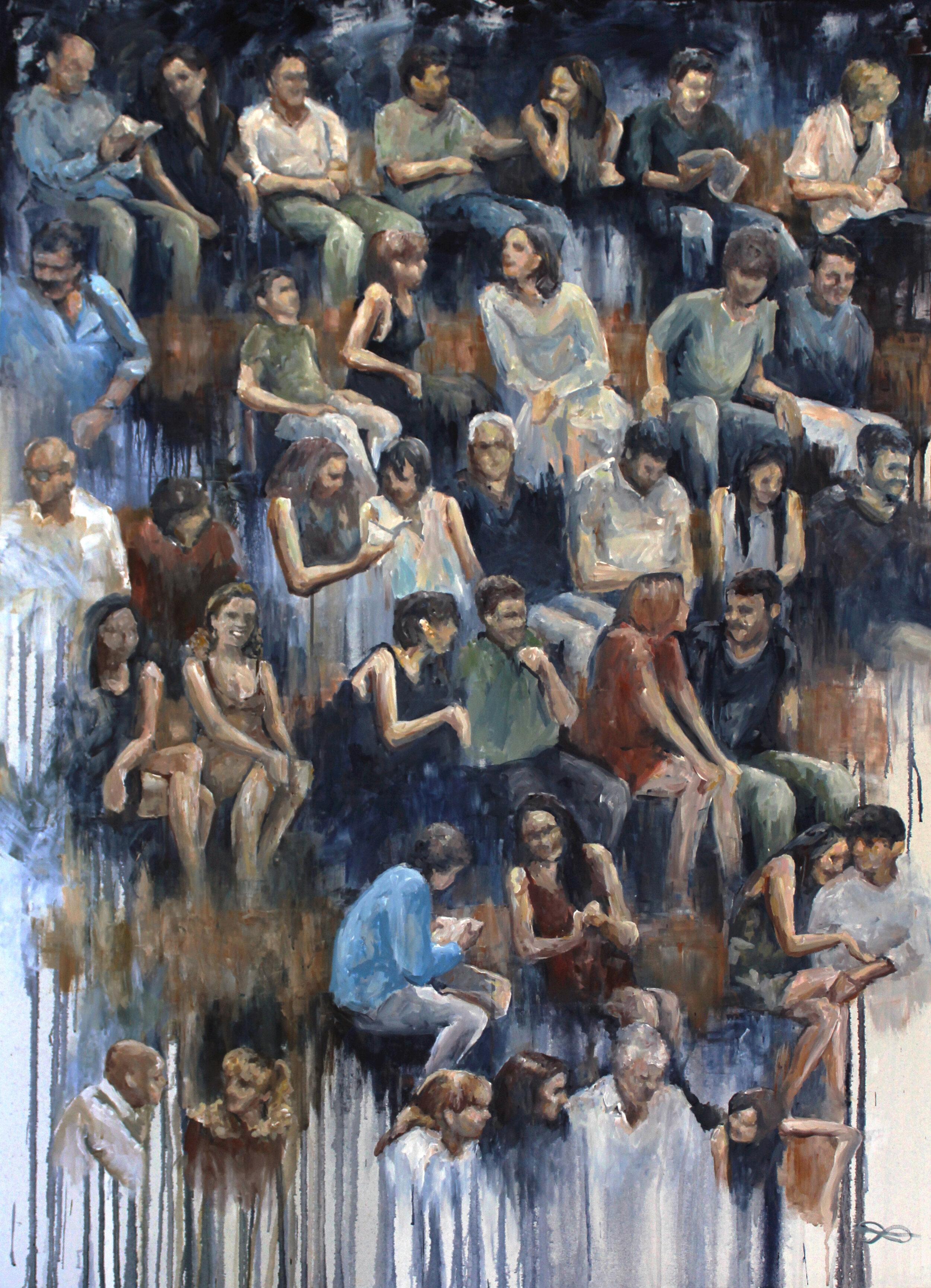 Tonhalle Wil – Publikum (audience) / 2019 / acrylic on canvas / 140 x 100 cm