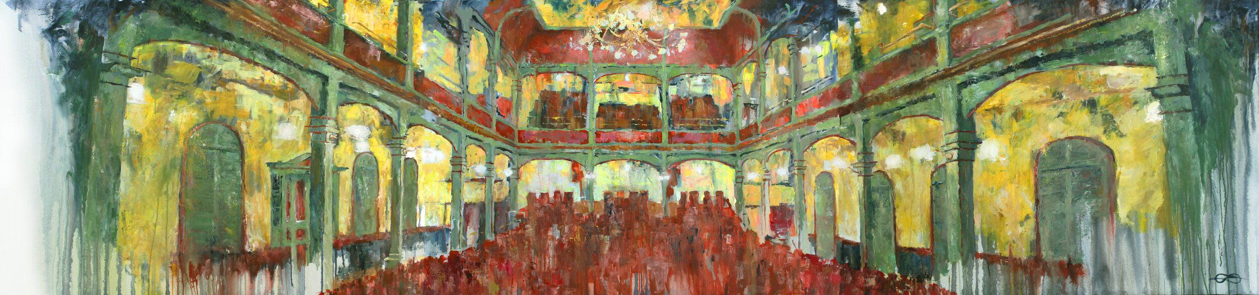 Triptychon: Tonhalle Wil - Applause / 2019 / acrylic on canvas / 100 x 140 cm, each