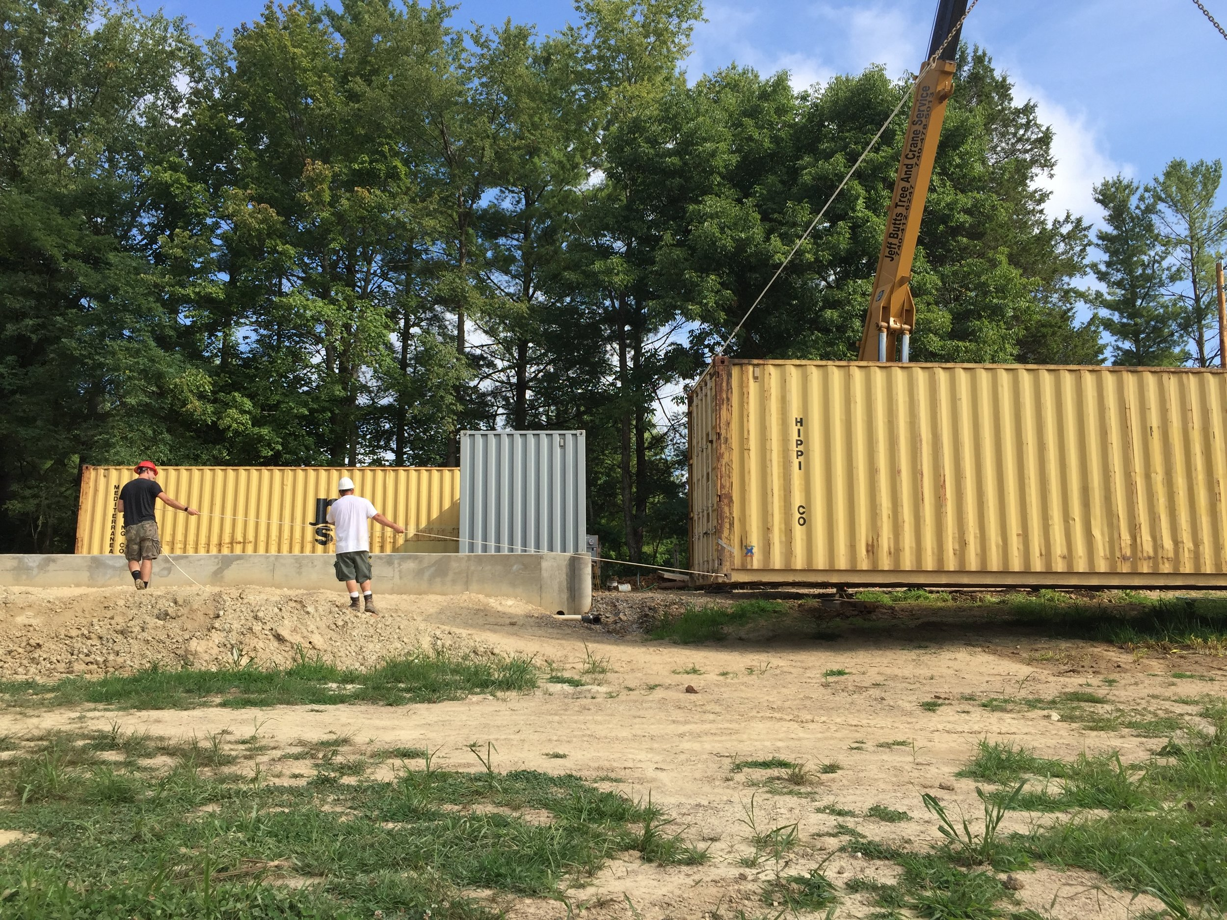 """Containers were """"Placed"""" today! Yay!"""