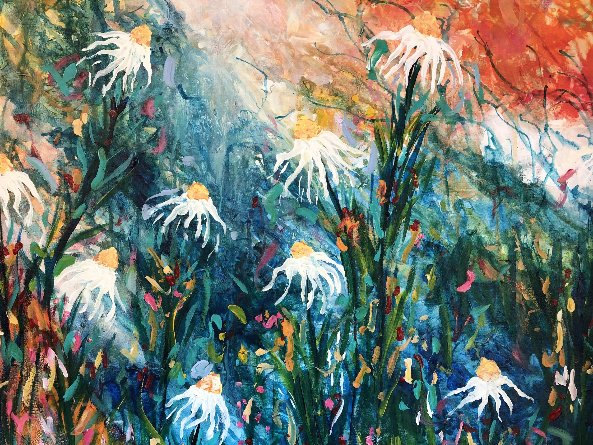 Shannon Thorpe Frederick   Shannon finds inspiration for her artwork by spending time outside, appreciating nature. She uses bold colours that make her feel happy and uplifted. She is a self taught artist who has been painting and selling her art for over a decade...