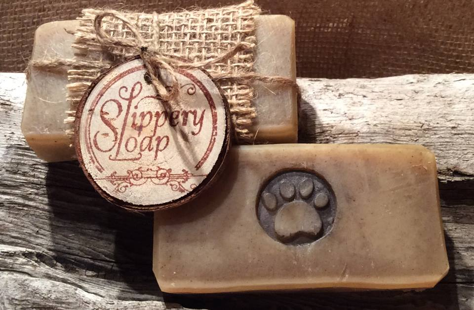 Slippery Sloap Soap   We make our soaps from natural, sustainable oils, butters, clays and colorants. The scents used are pure essential oils.
