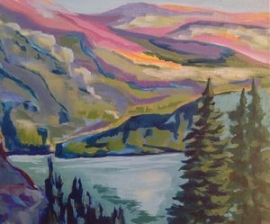 Laura Gray   Having a love for the mountains, Laura began acrylic painting in 2004 in Canmore, Alberta. She studied under the late artist Zelda Nelson SFCA. Her first mentor was her Mother, artist Phyllis Ecclestone Gray who was an accomplished oil landscape painter in Quebec.
