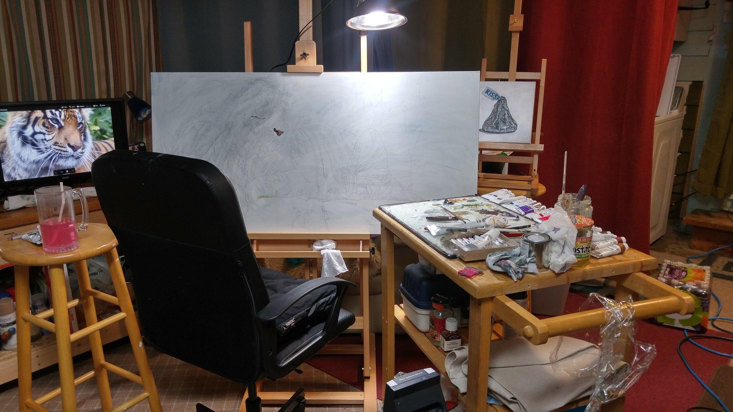 Painting Studio Set Up