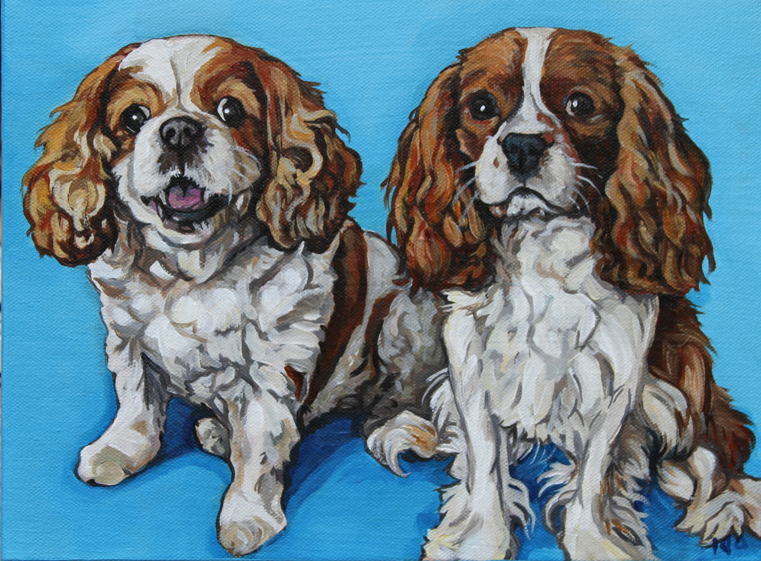 Ginger & Jasper, Acrylic on Canvas, 9x12
