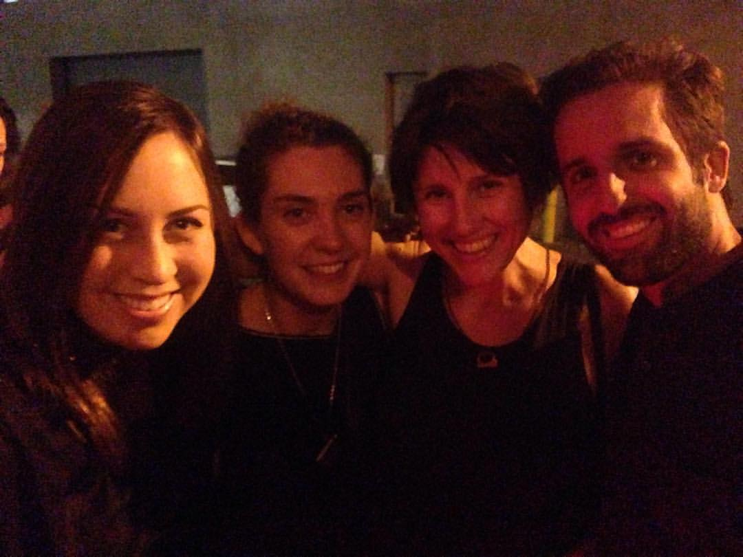 From left to right - Cailin Yatsko and Ani Simon-Kennedy of Bicephaly, with fellow BUREAU filmmakers, Leah Meyerhoff and Alex Mallis