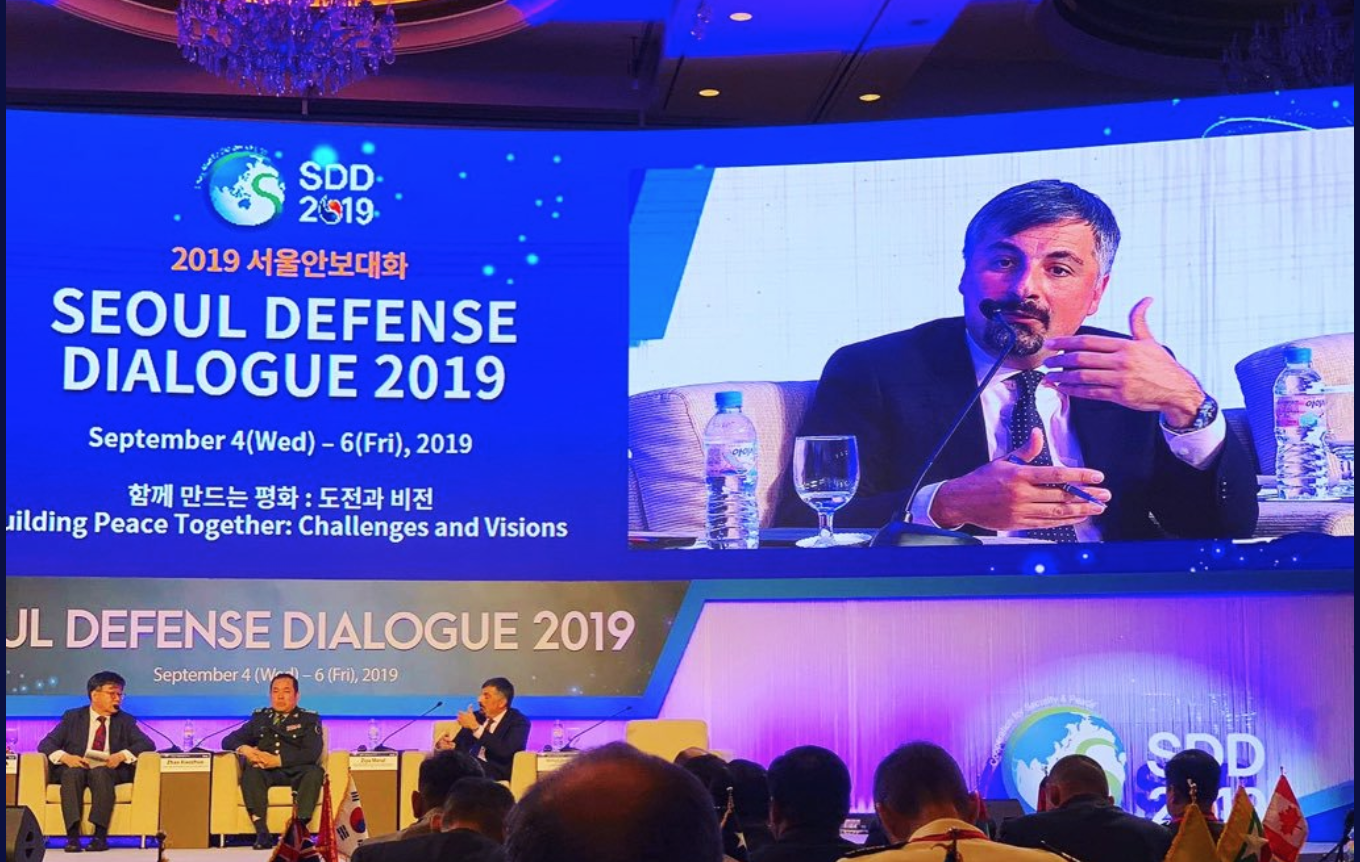 Speaking on peacekeeping at Seoul Defence Dialogue
