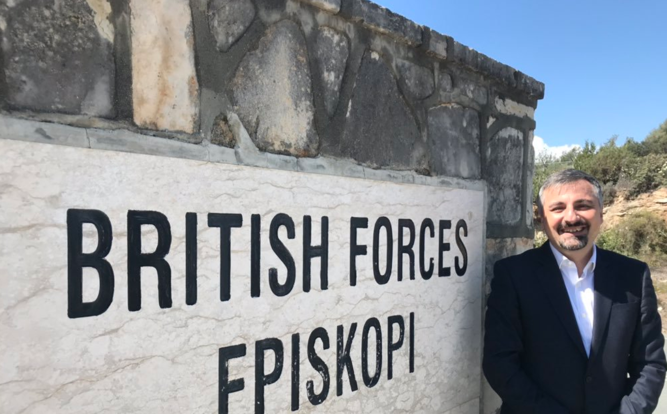 Speaking on global trends to UK personnel in Cyprus