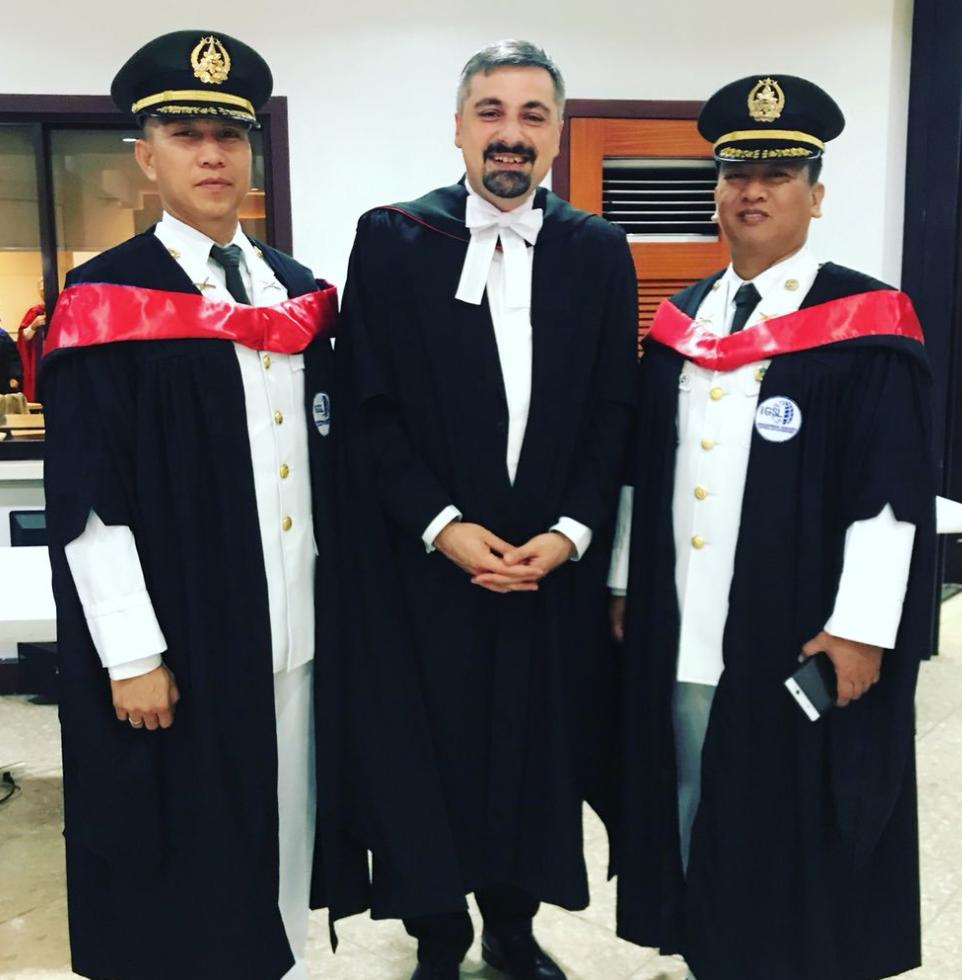 Officers graduating in Manila