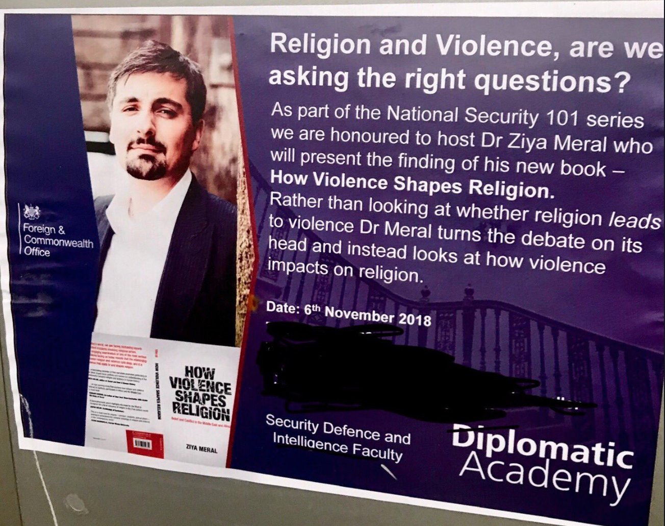 Giving a talk at the FCO on my book